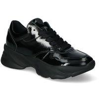Damskie obuwie sportowe, Sneakersy Chebello 2577-240 Czarne Lakier