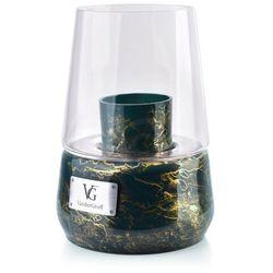 CRISTIE Lampion 25x18cm zieleń butelkowa-marmur