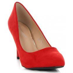 Uniwersalne Szpilki Damskie na każdą okazję marki Ideal Shoes Czerwone (kolory)