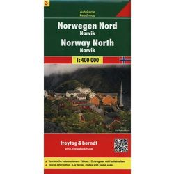 Norwegia cz.3 - północna Narvik mapa 1:400 000 Freytag & Berndt (opr. miękka)