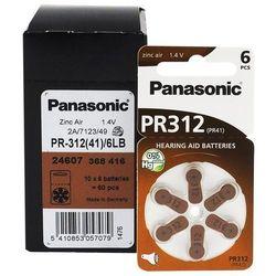 300 x baterie do aparatów słuchowych Panasonic 312 / PR312 / PR41