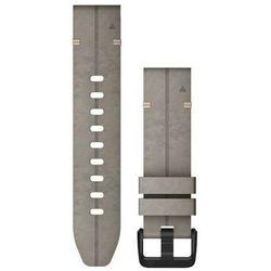 Garmin QuickFit Pasek do zegarka ze skóry perforowanej 20 mm dla Fenix 6S, szary 2020 Akcesoria do zegarków
