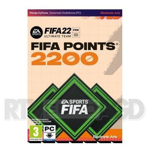 Klucze i karty przedpłacone, FIFA 22 - 2200 punktów PC