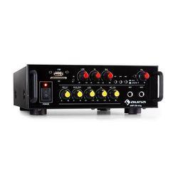 Auna Amp EQ BT, wzmacniacz karaoke Hi-Fi, Bluetooth, USB, SD, 2 x wejście mikrofonowe, 2 x 30 W RMS
