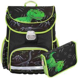 Hama zestaw szkolny tornister + piórnik z wyposażeniem / Dino - Dino