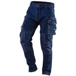 Spodnie robocze DENIM wzmocnienia na kolanach rozmiar XS 81-228-XS