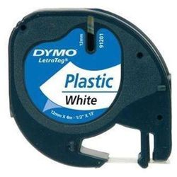 Taśma DYMO Letra Tag 12mm/4m plastik - biała 59422