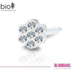 Kolczyk do przekłuwania uszu Blomdahl - Daisy Crystal 5 mm