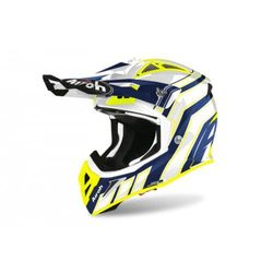 AIROH KASK OFF-ROAD AVIATOR ACE ART BLUE GLOSS