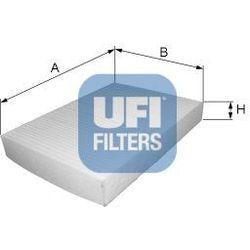 Filtr, wentylacja przestrzeni pasażerskiej UFI 53.039.00