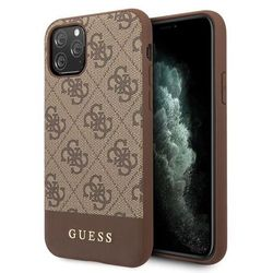 Etui Guess GUHCN65G4GLBR iPhone 11 Pro Max brązowy/brown hard case 4G Stripe Collection