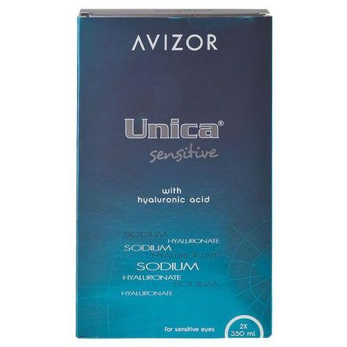 Płyny pielęgnacyjne do soczewek, Avizor Unica Sensitive Duo Pack 2 x 350 ml