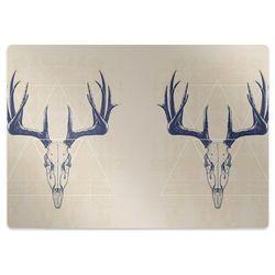 Podkładka pod krzesło obrotowe Podkładka pod krzesło obrotowe Czaszki jelenia