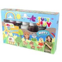 Kreatywne dla dzieci, Tubi Jelly 6 kolorów - Zwierzątka TUBAN