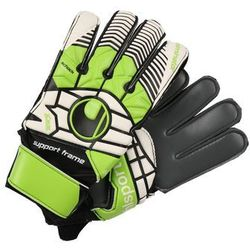 Uhlsport ELIMINATOR SOFT GRAPHIT Rękawice bramkarskie schwarz/blau/power grün