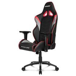 AKracing Overture Red Krzesło gamingowe - Czarno-czerwony - Skóra PU - 150 kg