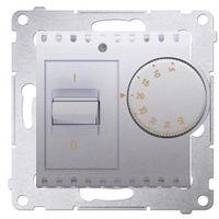 Regulatory i sterowniki, Regulator temperatury Simon 54 DRT10W.02/43 z czujnikiem wewnętrznym srebrny mat Kontakt-Simon