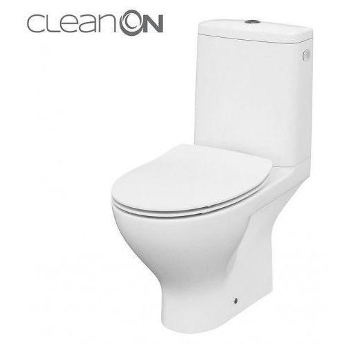CERSANIT MODUO Kompakt WC z odpływem poziomym, deska twarda wolnoopadająca SLIM K116-001 (5902115741111)