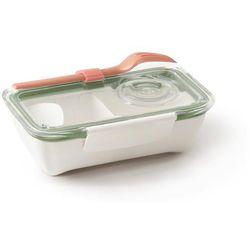 Pudełko na lunch Bento oliwkowo-pomarańczowe