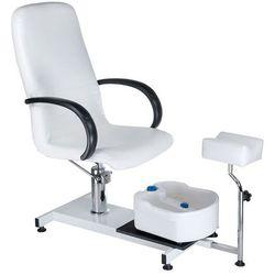 Fotel do pedicure z masażerem stóp BW-100 white
