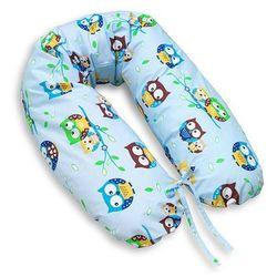 MAMO-TATO Poduszka dla kobiet w ciąży Sówki błękitne