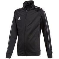 Odzież do sportów drużynowych, Bluza dla dzieci adidas Core 18 Polyester Jacket JUNIOR czarna CE9052