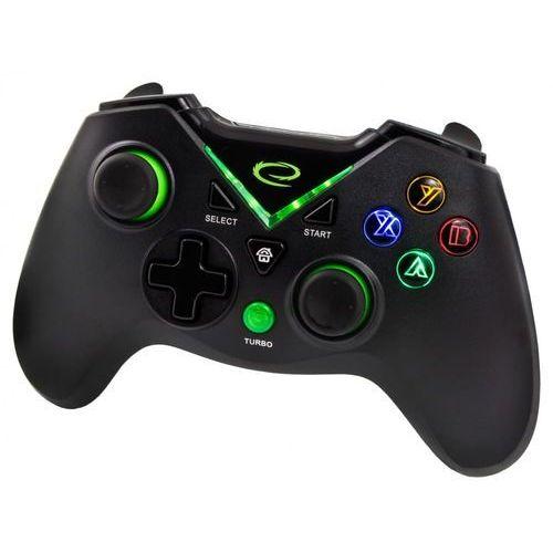 """Gamepady, Gamepad PS3/PC/XBOX ONE/ANDROID USB Esperanza """"Captain"""" czarny"""