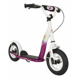 """Hulajnoga dla dzieci pompowane koła 10"""" BikeStar kolor jagodowo-biały"""