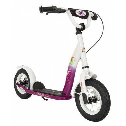 """Hulajnogi, Hulajnoga dla dzieci pompowane koła 10"""" BikeStar kolor jagodowo-biały"""