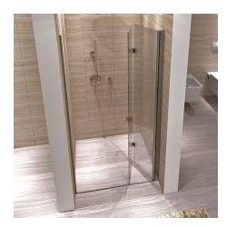 REA MYSPACE N Drzwi prysznicowe 100x190, profile chrom, szkło transparentne EasyClean