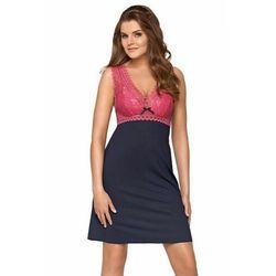 Babella larisa kobaltowo-różowa damska koszula nocna