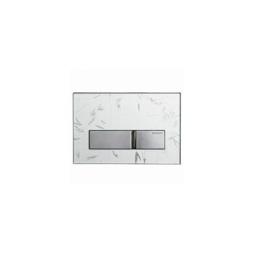 GEBERIT przycisk Sigma 50 biały z ornamentem/chrom 115.788.SC.1, 115.788.SC.1