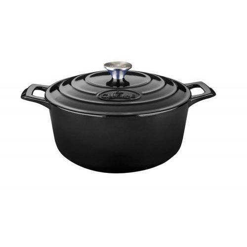 Garnki, La Cuisine - Garnek żeliwny okrągły 20cm 2l Czarny