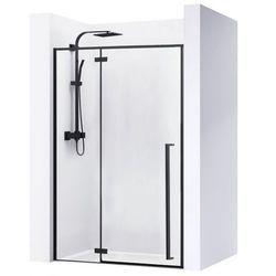 Drzwi prysznicowe z czarnymi profilami 120 cm Rea Fargo Black