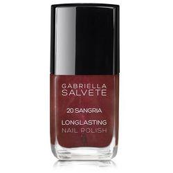 Gabriella Salvete Longlasting Enamel lakier do paznokci 11 ml dla kobiet 20 Sangria