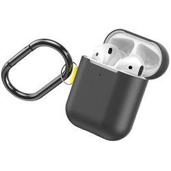 Baseus Let''s go AirPods Case silikonowe etui case na słuchawki AirPods 2gen / 1gen + karabińczyk / brelok szary (WIAPPOD-CGY) - Szary