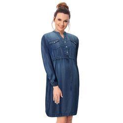 ubrania ciążowe Sukienka ciążowa Potenza jeans Piękny Brzuszek