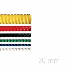 Grzbiety plastikowe O.COMB 22 mm niebieskie 100szt./op. OPUS
