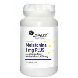 Melatonina 1mg Plus melisa lekarska 150 mg 100 tabletek Aliness