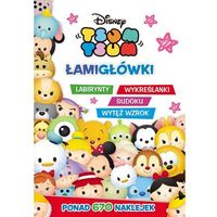 Książki dla dzieci, Tsum Tsum Łamigłówki labirynty wykreślanki sudoku wytęż wzrok - Dostawa 0 zł (opr. miękka)