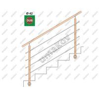 Przęsła i elementy ogrodzenia, Drewno DUB (OAK) BK-schodisko, v=90cm, L=150cm