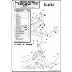 Stelaż Kappa K5110 Suzuki Bandit GSF600/1200 96-99
