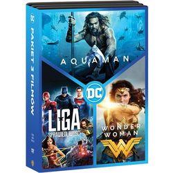 DC PAKIET 3 FILMÓW (3 DVD) (AQUAMAN, LIGA SPRAWIEDLIWOŚCI, WONDER WOMAN) (Płyta DVD)