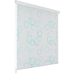 Roleta prysznicowa 160 x 240 cm, wzór w bąbelki