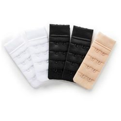 Przedłużenie biustonosza bonprix 2x biały + 2x czarny + 1x cielisty