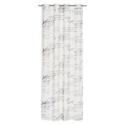 Firana na przelotkach DWAYNES 140 x 260 cm biała INSPIRE