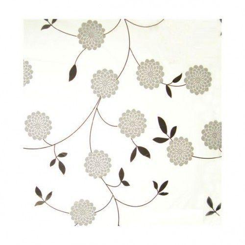 BISK Zasłonka prysznicowa FLOWERS PEVA 180x200cm z kółkami, 05164