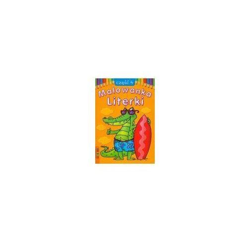 Książki dla dzieci, Literki część 4 Malowanka (opr. miękka)