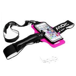 """Zestaw szelki na telefon MOC Chest Plate + etui Slip-In Bag 4,7"""" - różowy"""