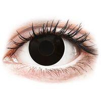 Soczewki kontaktowe, ColourVUE Crazy Lens - Blackout - jednodniowe zerówki (2 soczewki)